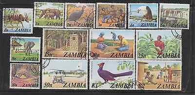 -83) ZAMBIA  1975 Issue 'THIRD DEFINITIVES ' S.G.226-239  'FINE USED'