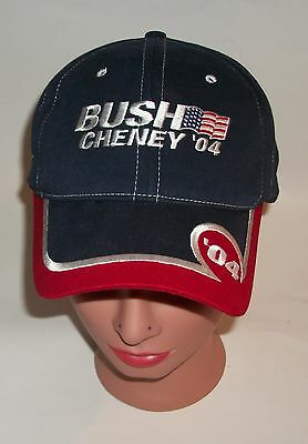 Bush Cheny 2004 Campaign Red White Blue Embroidered Hat