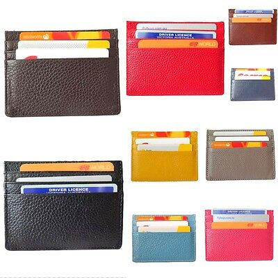 Men and Women Case Wallet Slim Thin Credit Card Holder Genuine Leather