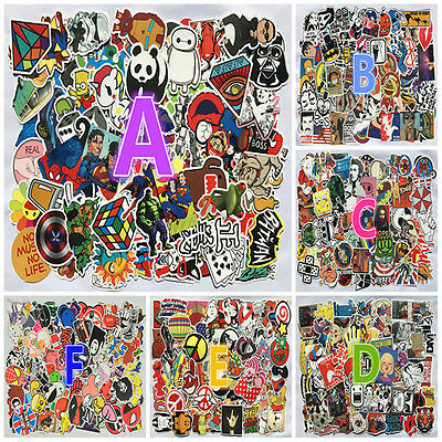 100pcs Cartoon Sticker Bomb Decal Vinyl Roll for Car Skateboard Laptop Luggage