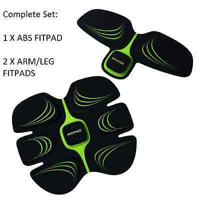 ABS Sixpad Training Body Fitness Fit Wonder EMS Core Toning Belts *COMPLETE SET*