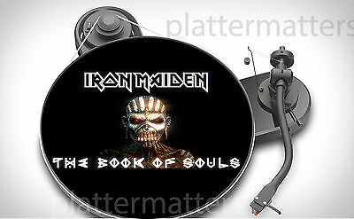 Ltd Edition IRON MAIDEN Book of Souls 7 or 12 inch TURNTABLE platter MAT new