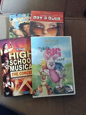 Disney Dvds x4 HSM, get a clue, George of the jungle, piglet movie lot