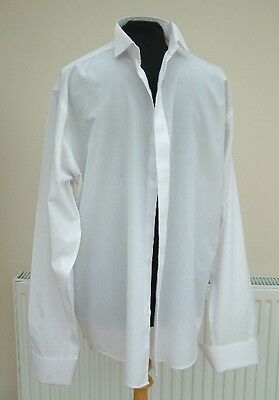 """16.5 WHITE WEDDING SHIRT  USED wing collar  26"""" sleeve  35% cotton D Alterio"""