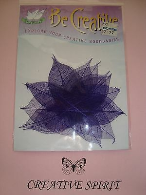 20 Purple Skeletonized Leaves (Dovecraft) scrapbooking cardmaking collage crafts