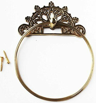 Victorian French Solid Brass Wall Mount Towel Ring Bathroom Fixture 6719