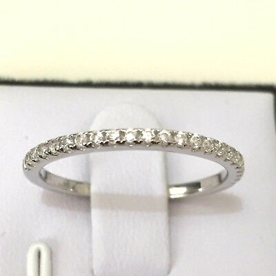 Matching Wedder: Real 925 Silver Simulated Diamond Wedding Matching Band Ring
