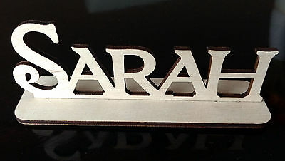10 personalised wooden laser cut standing names tags place cards wedding table