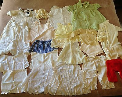 Vintage Infant Doll Toddler Girl Clothing Lot of 20 Pieces Dresses Petticoats +