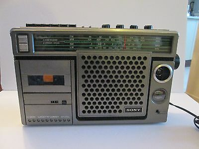 Sony 4 Band Cassette Corder CF-270L Radio 70's Military Style RARE