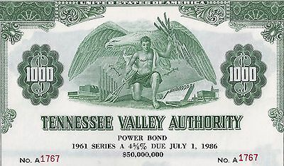Tennessee Valley Authority, 1961, 4 5/8% Power Bond Ser. A due 1986 (1.000 $)