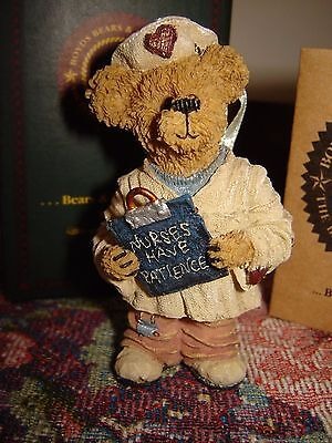 Boyds Bears Bearstone  Naomi Chart Keeper Nurses Have Patience Ornament