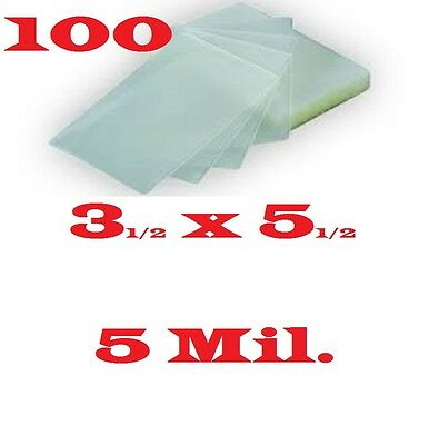 3 X 5 Laminating Laminator Pouches Sheets Index Card (100) 3-1/2 x 5-1/2 5 Mil