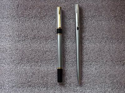 WATERMAN PENS 2pcs used Ball Point pen rare pens MADE IN FRANCE .No.OO