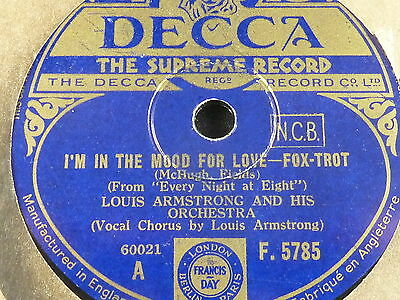 Louis Armstrong - I'm in the mood for love / You are my lucky star, DECCA
