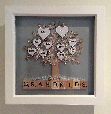 Personalised Scrabble Art Picture Frame Mothers Day/Wedding/Engagement