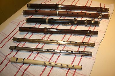 Collection of flutes and whistles, Blackwood Flute, Antique Flutes, Vintage