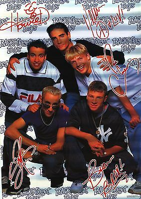 MUSIC POSTER~Backstreet Boys Signed Vintage 1996 Nick Carter Howie Out of Print~