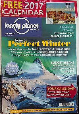 Lonely Planet Traveller Magazine January 2017  with Free 2017 Calendar