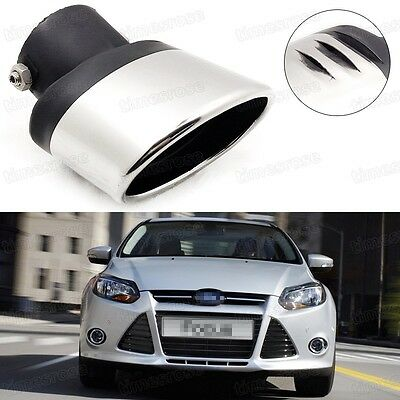 Silver Car Exhaust Muffler Tip Tail Pipe End Trim for Ford Focus 2011-2016 #1017