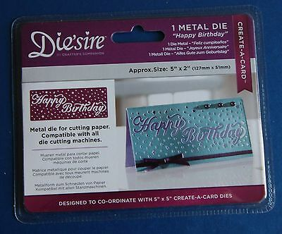 "Diesire 5"" x 2"" Create a Card - 'Happy Birthday' Die"