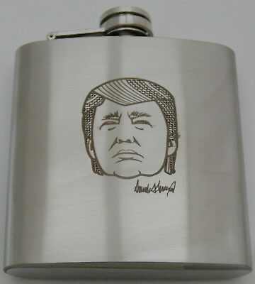 Donald Trump 6 OZ Double Wall Stainless Flask