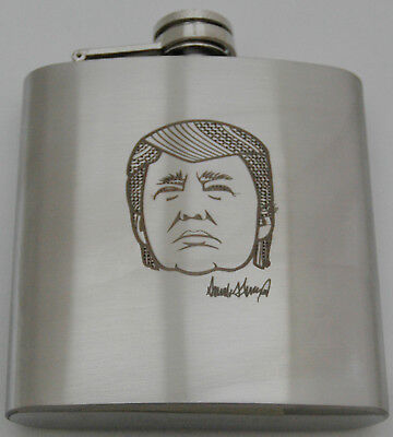 Donald Trump 8 OZ Double Wall Stainless Flask with White Paper Gift Box