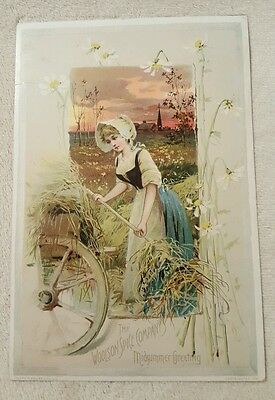 Vintage Antique Woolson Spice Co Lion Coffee Victorian Trade Card Midsummer