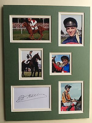 """Horse Racing Pat Eddery Signed 16"""" X 12"""" Double Mounted Display"""