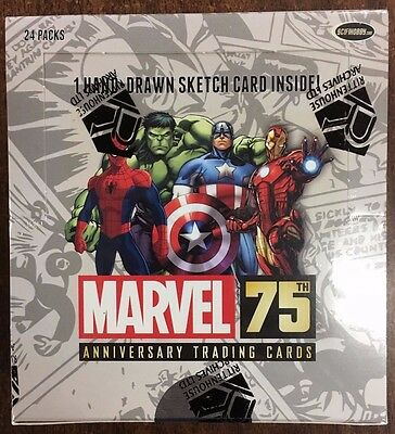 Marvel 75th Anniversary Trading Card Hobby Box Rittenhouse Archives