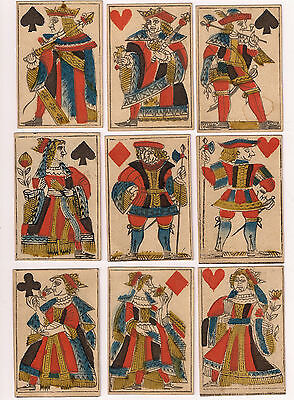 18th Century French Playing Cards Rare Pre-Revolution Lyon Pattern 29/32 Partial