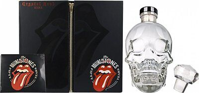 Rolling Stones Crystal Vodka Skull Limited Edition Gift Pack with 2CDs!!