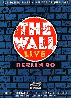Roger Waters 1990 The Wall Live In Berlin Concert Program Book / Tim Curry