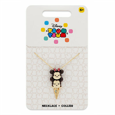 Disney Store Tsum Tsum Mickey and Minnie Mouse Ice Cream Necklace  - Brand New
