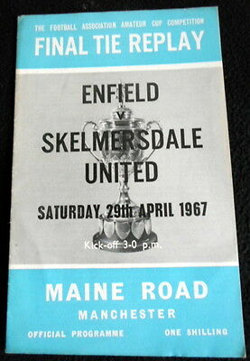 Enfield v Skelmersdale United  amateur cup final replay  29-4-1967   @ Man City