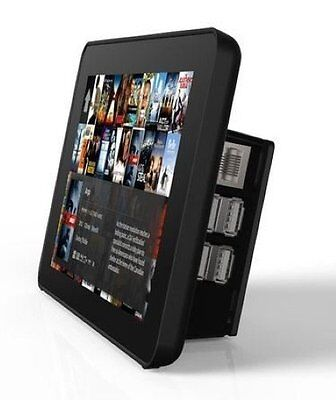 SR RS Raspberry Pi 7-Inch LCD Touch Screen Case, Black