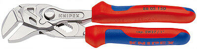"""Knipex Tools 8605150 Mini 6"""" Pliers Wrench with Comfort Grips"""
