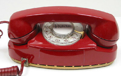 Western Electric Rotary Princess Telephone in Red