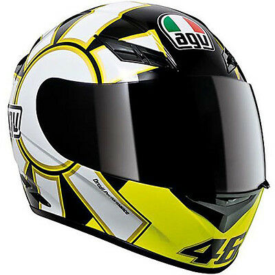AGV K-3 Gothic Rossi Replica Motorcycle Helmet (Black/Yellow) S (Small)