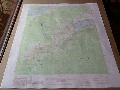 1990 Dept Of Interior Topo Map Lot #73, Lake Eleanor, Calif., Yosemite Hetch Het