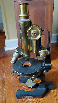 CARL ZEISS JENA BRASS & METAL MICROSCOPE GERMANY - Dept Public Health Wash DC
