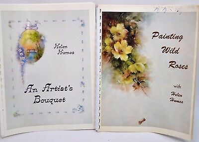 CHINA PAINTING Books PAINTING WILD ROSES / ARTIST'S BOUQUET by HELEN HUMES
