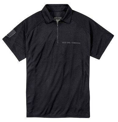 ICON 1000 NIGHT COURT Polo Shop Shirt (Black) 2XL (2X-Large)