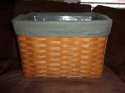 Longaberger 2000 Newspaper Basket Set  - Sage