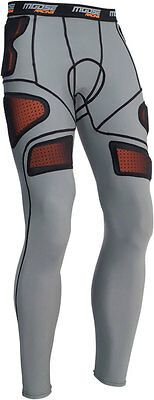 MOOSE Racing MX Motocross Men's XC1 Base Armor Underpants (Gray) L (Large)