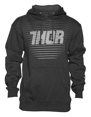 THOR MX Motocross Men's 2017 CHASE Pullover Hoodie Sweatshirt (Charcoal) Large