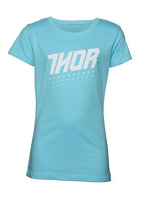 THOR MX Motocross Girls 2017 AKTIV Short Sleeve Tee T-Shirt (Teal) Youth Large