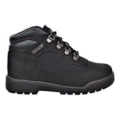 TIMBERLAND EURO HIKER ALL BLACK LEATHER PRE SCHOOL SIZE HIKING BOOTS 96748