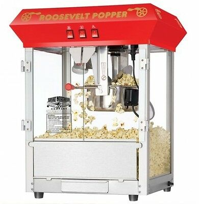 Popcorn Machine Popper Maker Red Antique Style 8oz Kettle Video Movie Theater