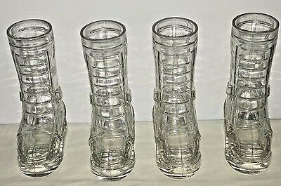 4 x Wild Turkey Bourbon Clear Glass Decanter Boot Campaign Mug Military Boot